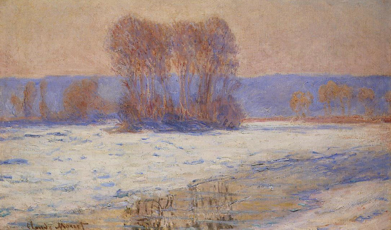 The Seine at Bennecourt, Winter 1893