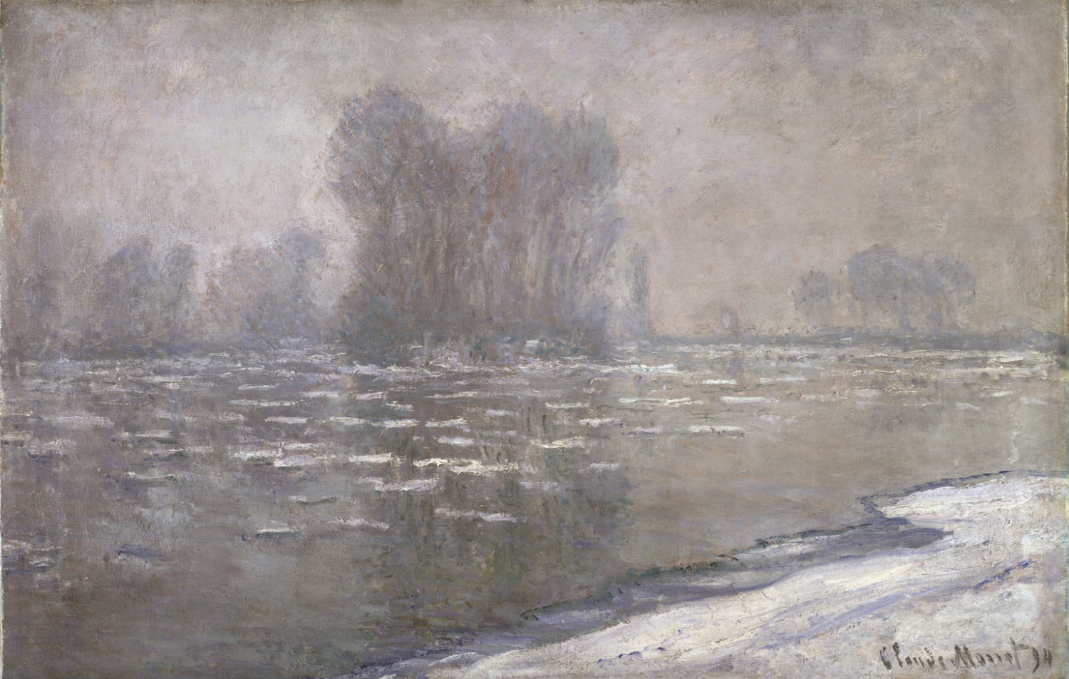 Ice Floes, Misty Morning 1894