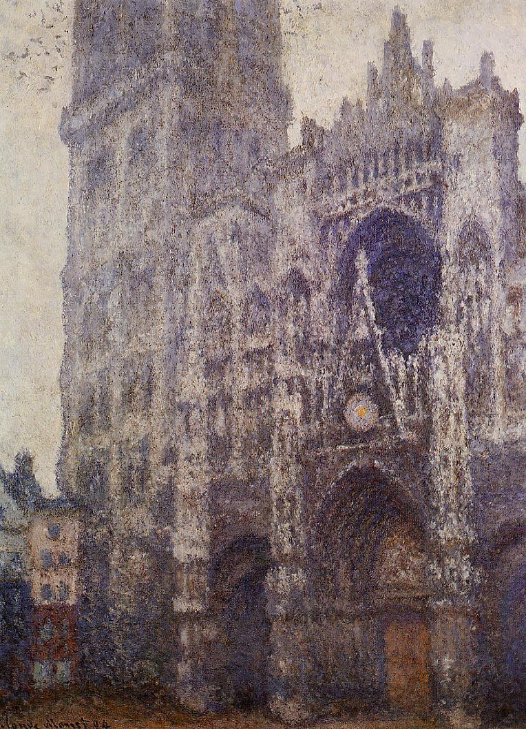 Rouen Cathedral, The Portal and the Tour d'Albene, Grey Weather 1894