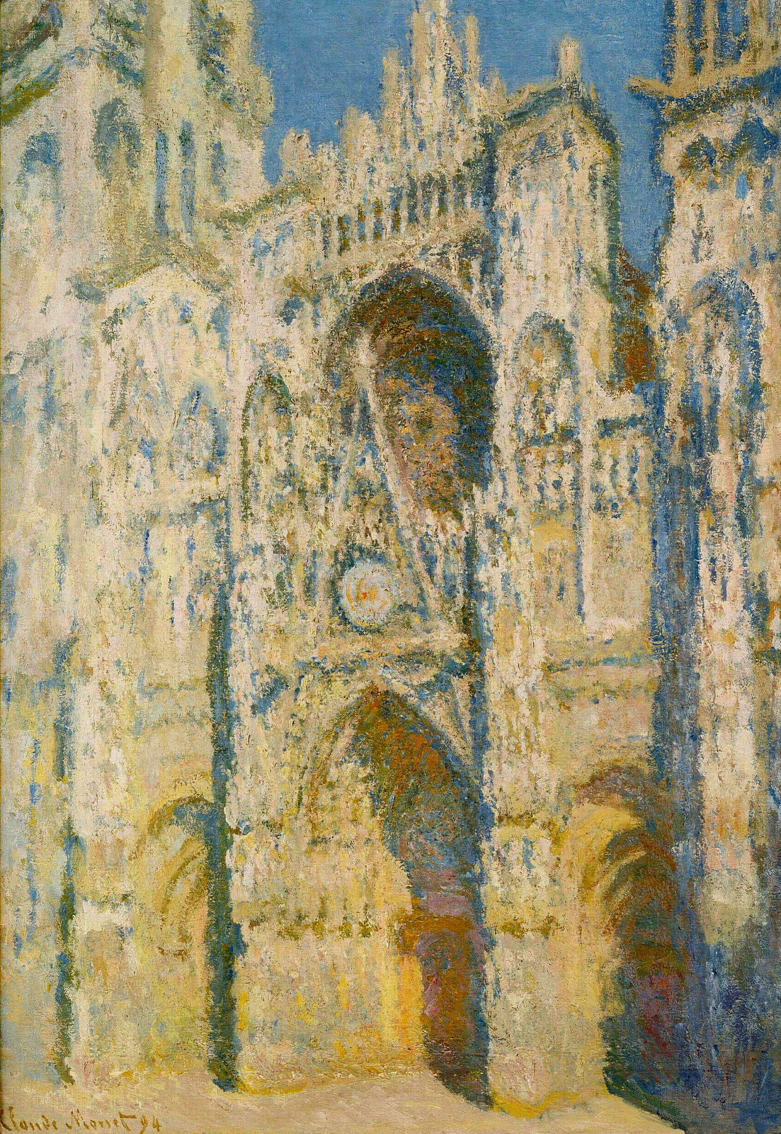 Rouen Cathedral, the Portal and the Tower d`Allban on the Sun 1894