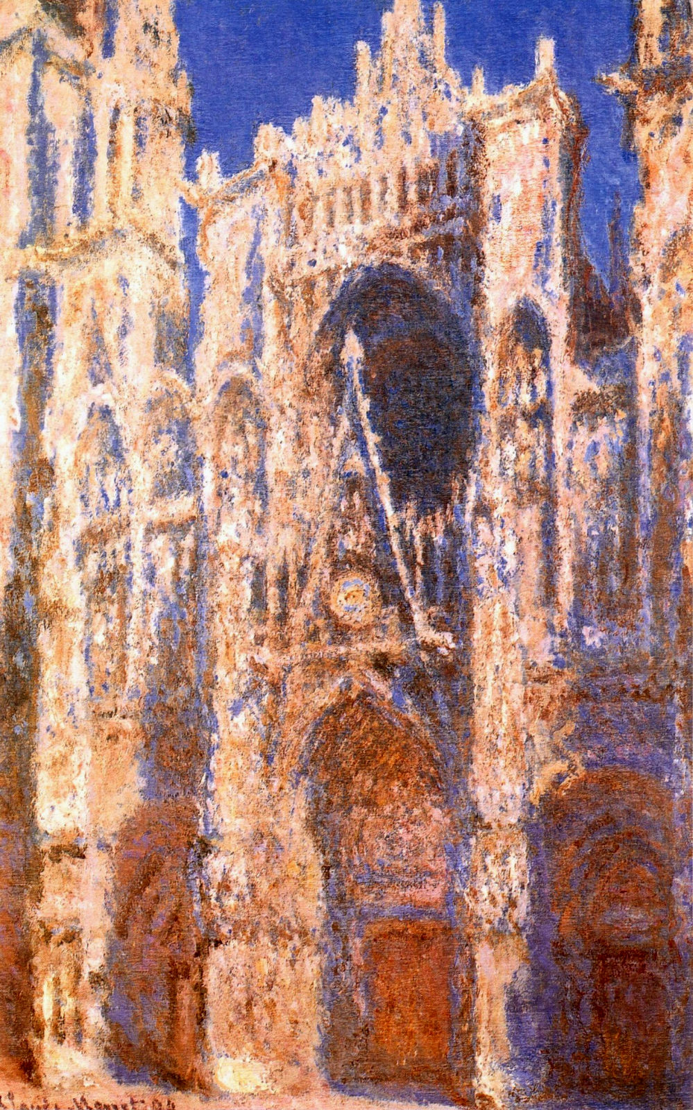 Rouen Cathedral, the Portal in the Sun 1894