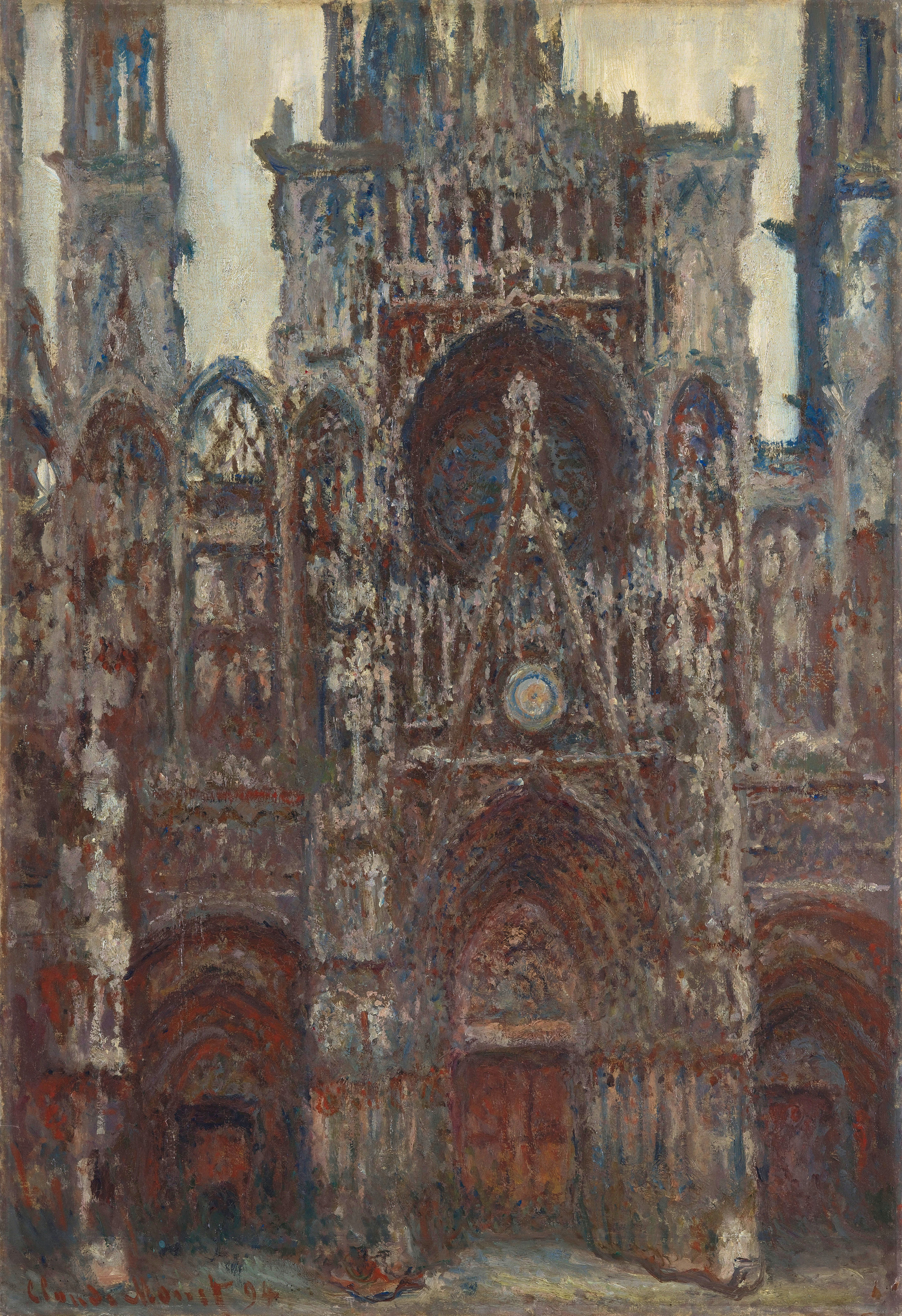 Rouen Cathedral, evening, harmony in brown 1894