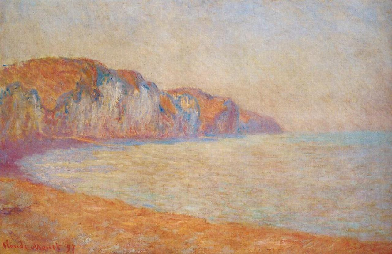 Cliff at Pourville in the Morning 1897