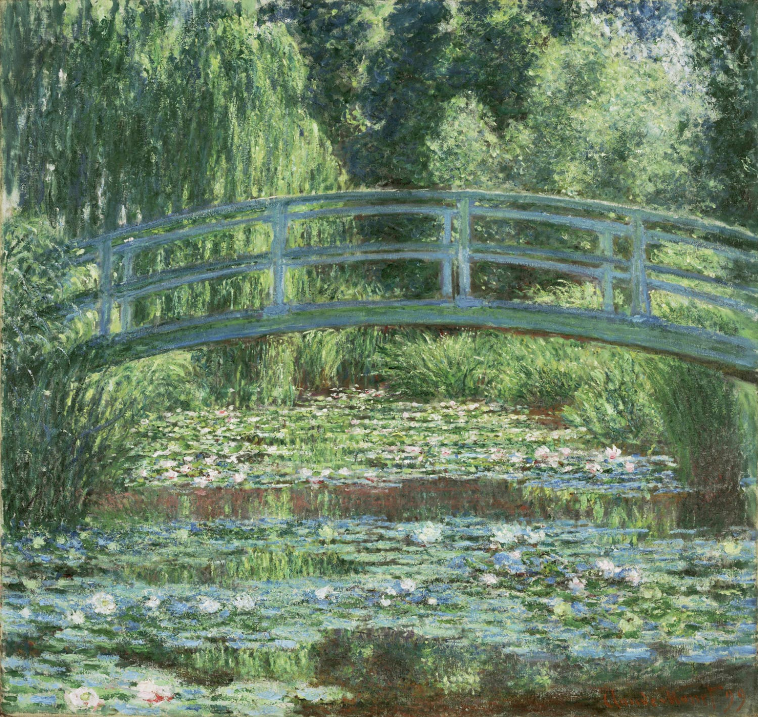 The Japanese Footbridge and the Water Lily Pool, Giverny 1899