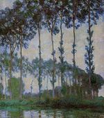 Poplars on the Banks of the River Epte, Overcast Weather