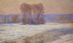 The Seine at Bennecourt, Winter