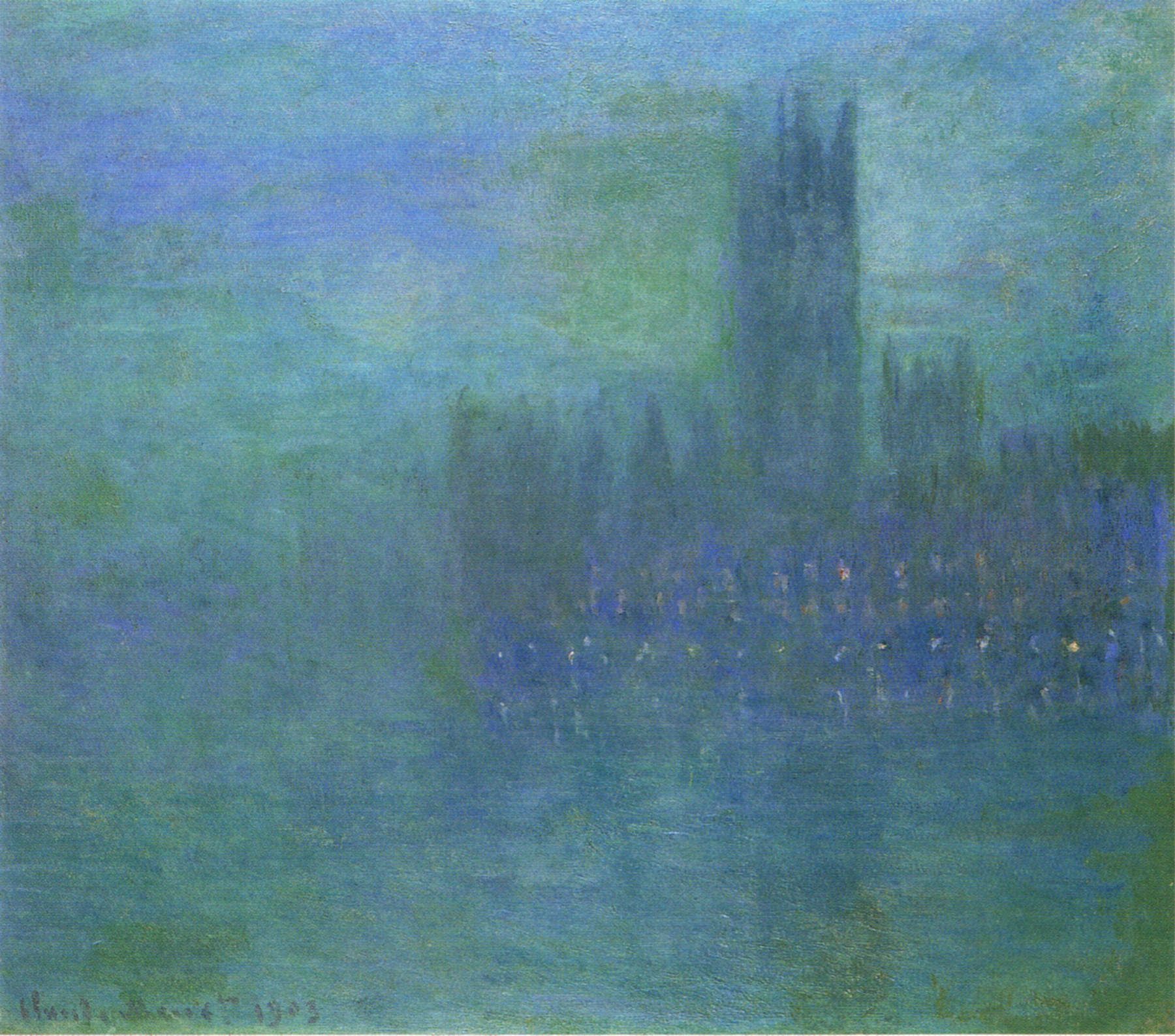 Houses of Parliament, Fog Effect 1903