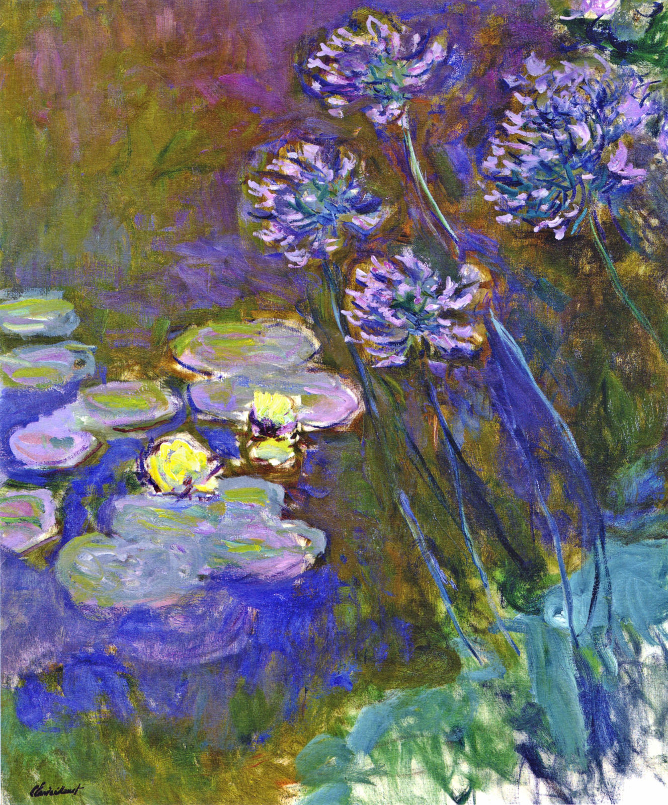 Water Lilies and Agapanthus 1917