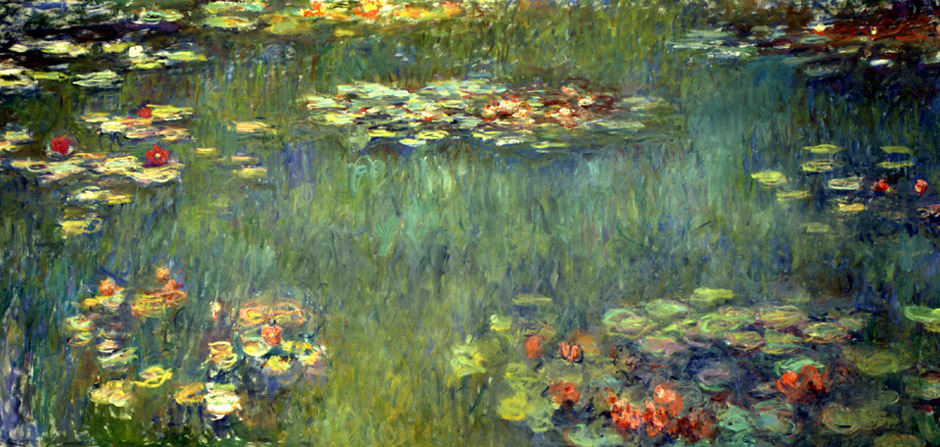 an analysis of monets series waterlilies green reflections For majors we have to write critical analysis essays of ekphrastic poetry this essay is about monet's waterlilies, a poem by robert hayden.