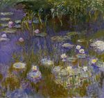 Water Lilies, Yellow and Lilac
