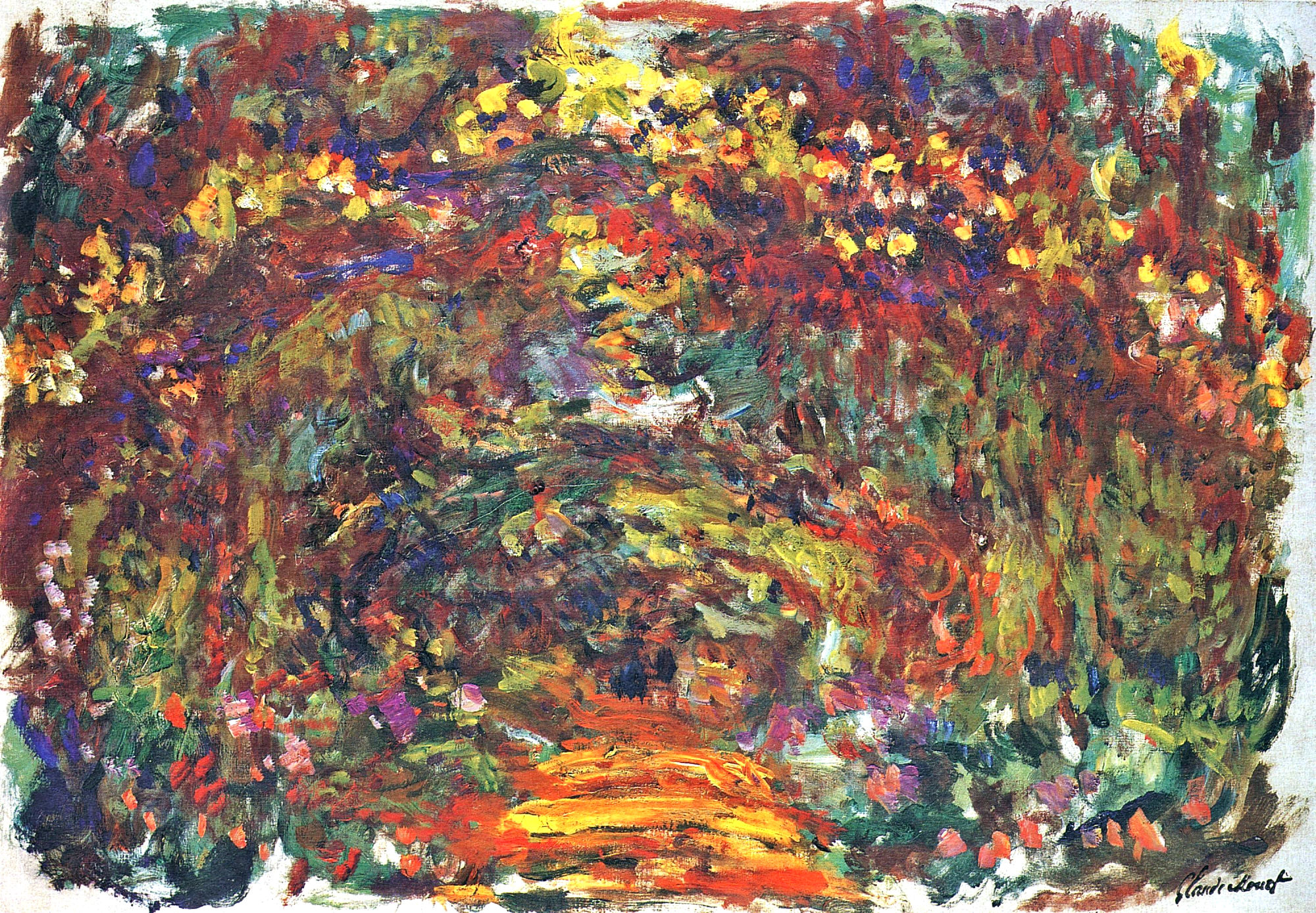 monet path under the rose trellises giverny 1922 in high resolution on art. Black Bedroom Furniture Sets. Home Design Ideas